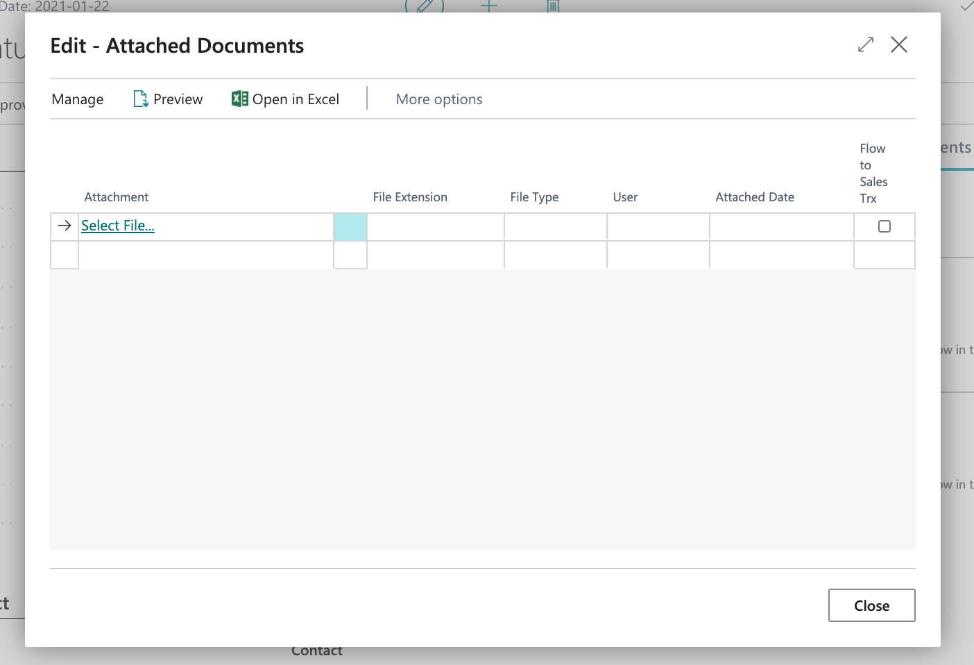 List of attachments to a  customer in Business Central