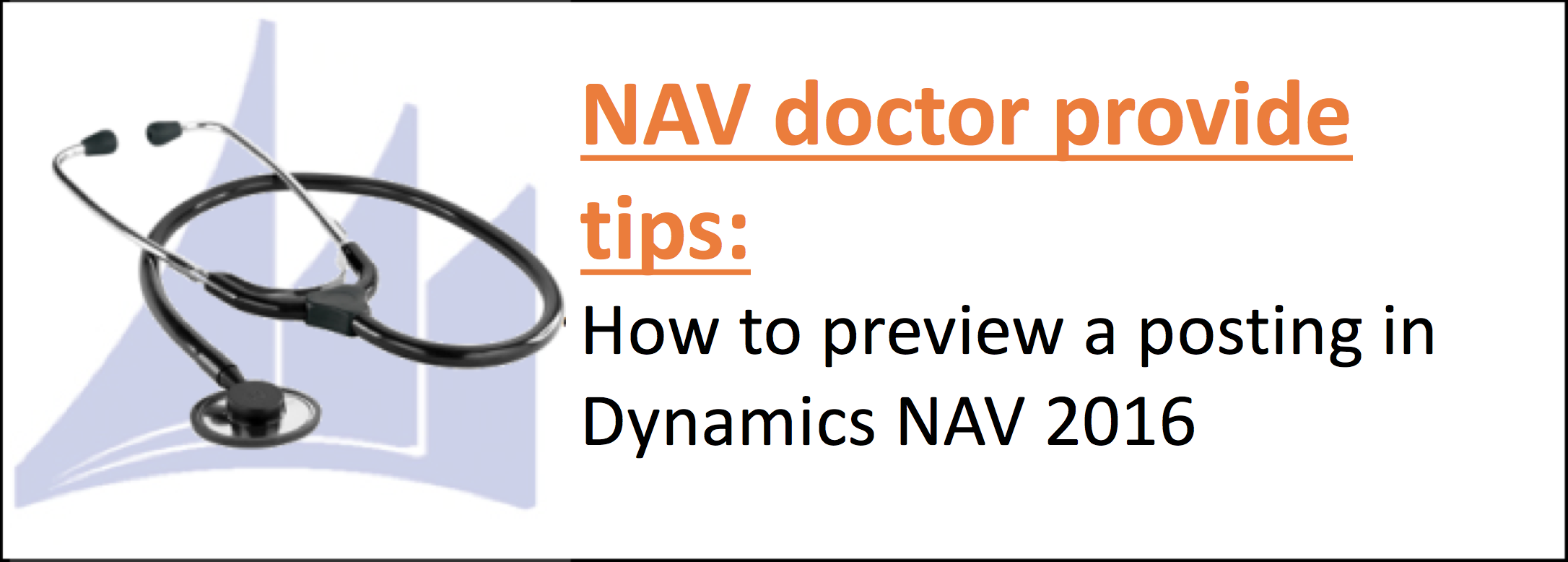How to preview a posting in Dynamics NAV 2016